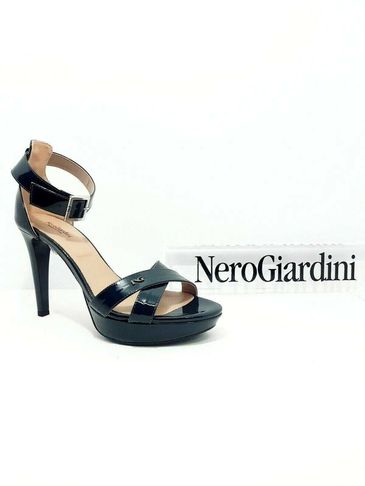 Sandalo elegante Donna Nero Giardini P717881DE vernice blu