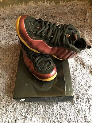 Clothing, Shoes & Accessories Contemplative Nike Little Posite One Gs Foamposite Size 7y Maroon 644791-600 Authentic Refreshment