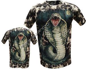 New-Cobra-Snake-Reptile-Skulls-Glow-In-Dark-Tattoo-Goth-Tye-Dye-T-Shirt-M-3XL