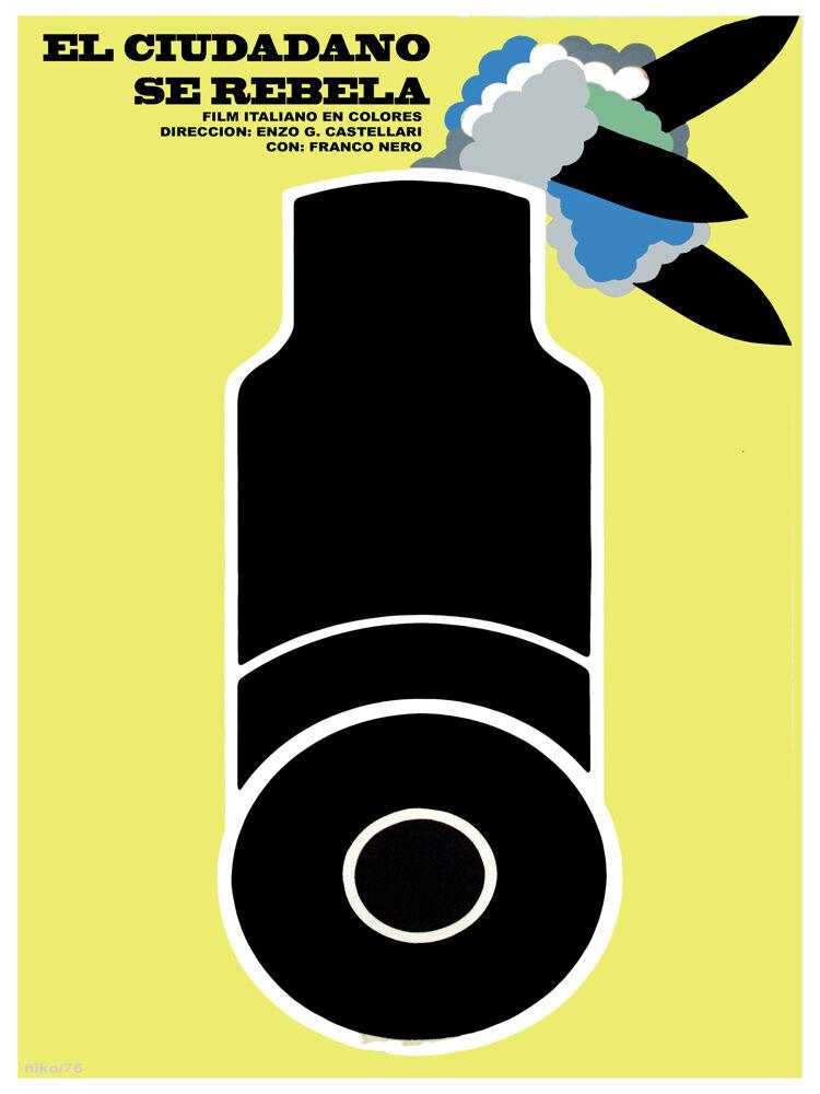 El Ciudadano se rebela vintage POSTER.Graphic Design.Wall Art Decoration.3118