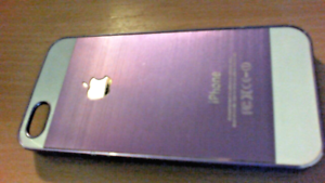IPHONE-4-CASE-PURPLE-AND-WHITE-HARD-BACK-MODEL-A1332