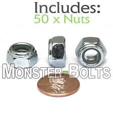 "Hex Flange Nut M6 6mm X 1.00 Coarse Thread /""Lot of 50 Nuts/"""