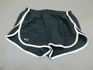 UNDER-ARMOUR-SIZE-S-WOMENS-BLACK-ATHLETICHEATGEAR-SEMI-FITTED-LINED-SHORTS-936