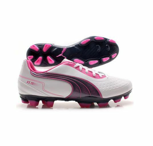 Puma v5.11 I FG Brand NEW SOCCER SHOES White-Pink-Navy  Brand New