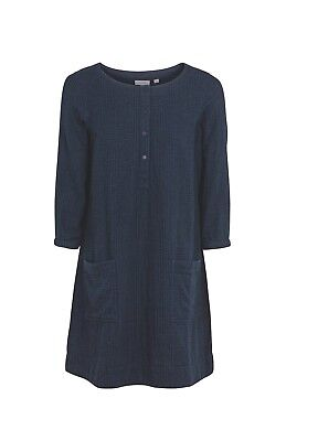 Livy Check Dress BNWT Women/'s Blue- 100/% Cotton Fat Face