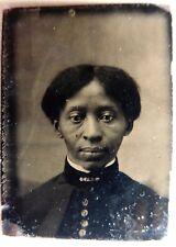 FERROTYPE AMERICAN AFRICAN PHOTO JEUNE FEMME NOIRE AMANDA WASHINGTON BLACK LADY