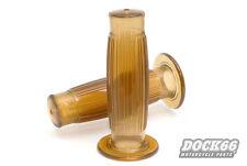 Barrel Style Griffe transparent braun 22 mm für Chopper, Grips brown