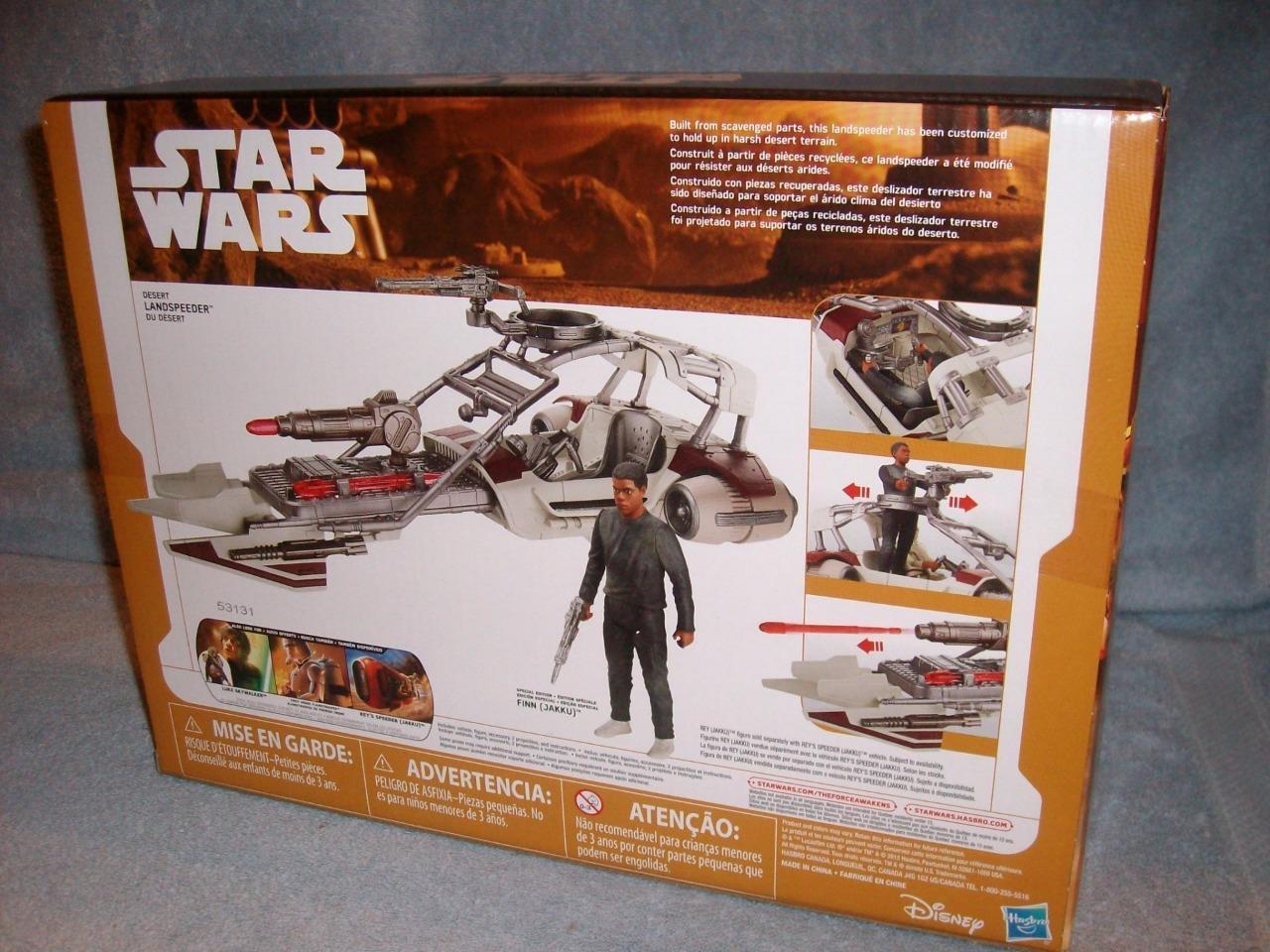 Desert Landspeeder Finn Jakku Jakku Jakku Star Wars Force Awakens Hasbro 2015 New Sealed caeca2