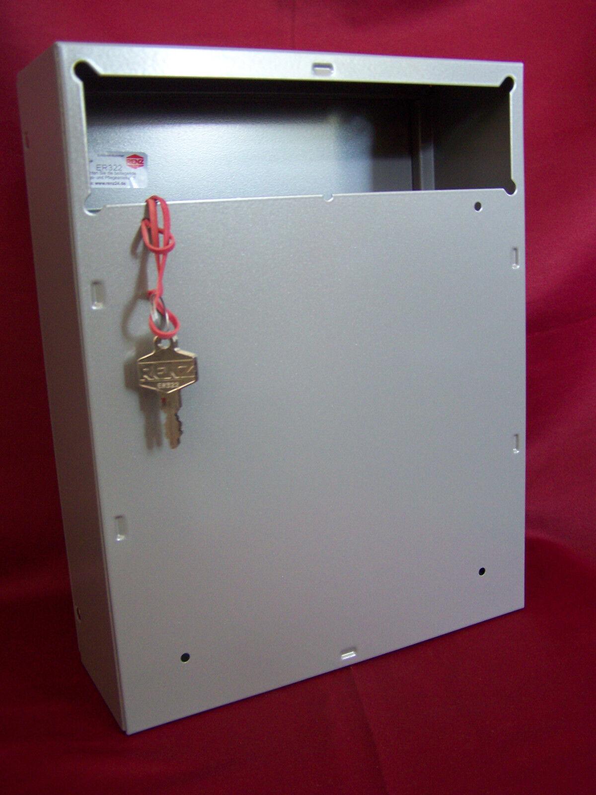 Renz Briefkasten 260 x 100 Postkasten Innentür Durchwurf RAL 9007 Mailbox ITH13