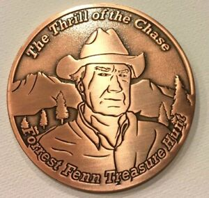 Details about Forrest Fenn Searcher Coin #880 of 1000 Thrill Of The Chase  Hidden Treasure Poem