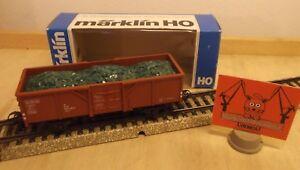 Marklin-H0-4430-Vehicule-special-wagon-de-marchandises-ouvert-avec