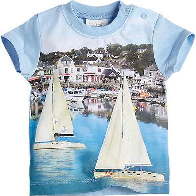 T-shirt Gr.50 56 Next Neu 100% Baumwolle Maritim Blau Baby Sommer Frühchen HüBsch Und Bunt