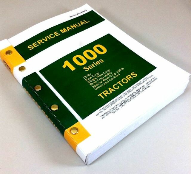 John Deere 1010 Tractor Service Manual Shop Repair RU RS Rus UR O 1000 Book JD