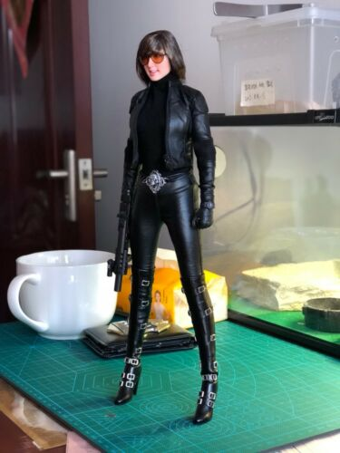 Black High-heel Shoes Long Boots For 1//6th Female Phicen HT Figure Doll Toys