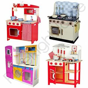 Image Is Loading LEOMARK WOODEN KITCHEN CHILDRENS PLAY KITCHEN  WITH ACCESSORIES