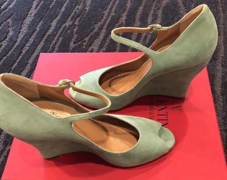 895 New Valentino Garavani donna scarpe verde Heels Ladies Pumps Dimensione 7 US 37
