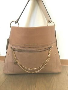 1a522db1 RIVER ISLAND Beige zip front chain front slouch bag bag new with ...
