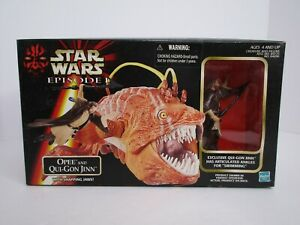 Hasbro-Star-Wars-1998-Episode-I-Opee-and-Qui-Gon-Jinn-Action-Figure-NIB-A3