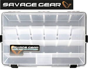Savage gear lure box 35 5 x23x9 2cm angelbox wasserdicht tacklebox f r k der ebay - Box fur gartenauflagen wasserdicht ...