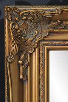 WANDSPIEGEL GOLD BADSPIEGEL FLURSPIEGEL SPIEGEL BAROCK ANTIK REPRO SHABBY 55x45