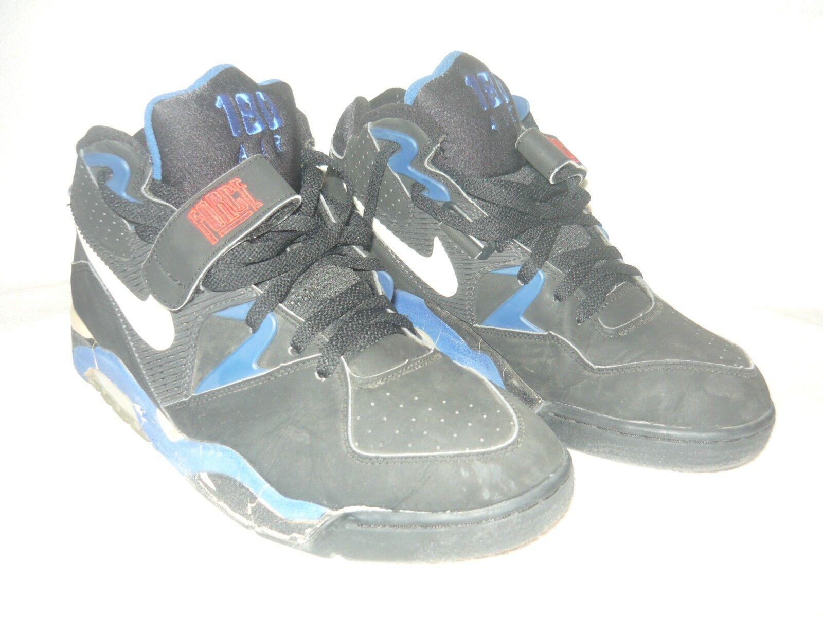 Nike Air Force 180 130010-010 size 12 Black-Royal bluee 1992 OG original vintage