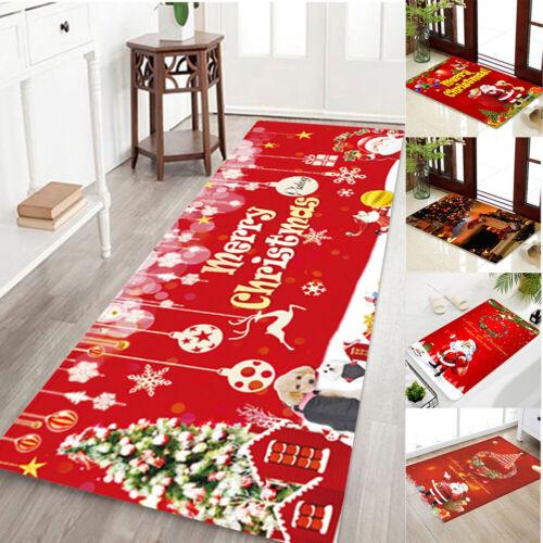 Weihnachten Teppich Flanell Runner Teppiche Türteppich Zimmer Matte Anti-Rutsch