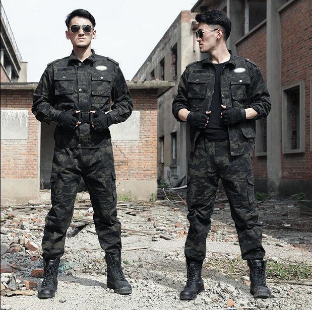 Men's Tactical Training Uniform Camouflage Military Outdoor Suit Combat Clothes