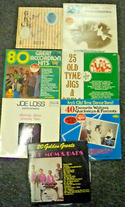 7-x-Dance-Hall-Music-Mom-amp-Dads-Ivy-039-s-Old-Time-Jigs-LP-Record-Bulk-Lot
