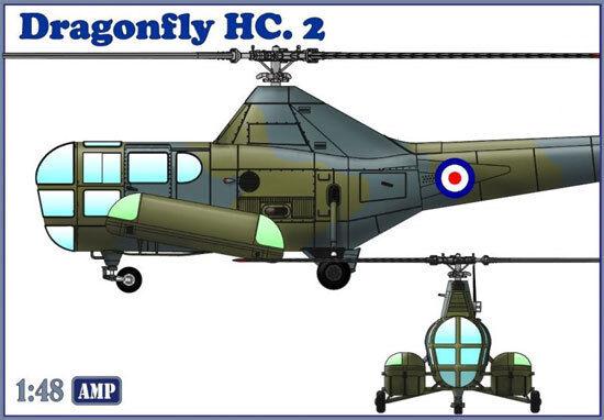 MIKRO MIR DORAGONflygaga HC.2 räddningshelikopter 1  48 PLASTIC modellllerL