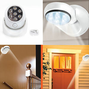 360rotation wireless indoor sensor lights 7 led security safety image is loading 360 rotation wireless indoor sensor lights 7 led mozeypictures Images