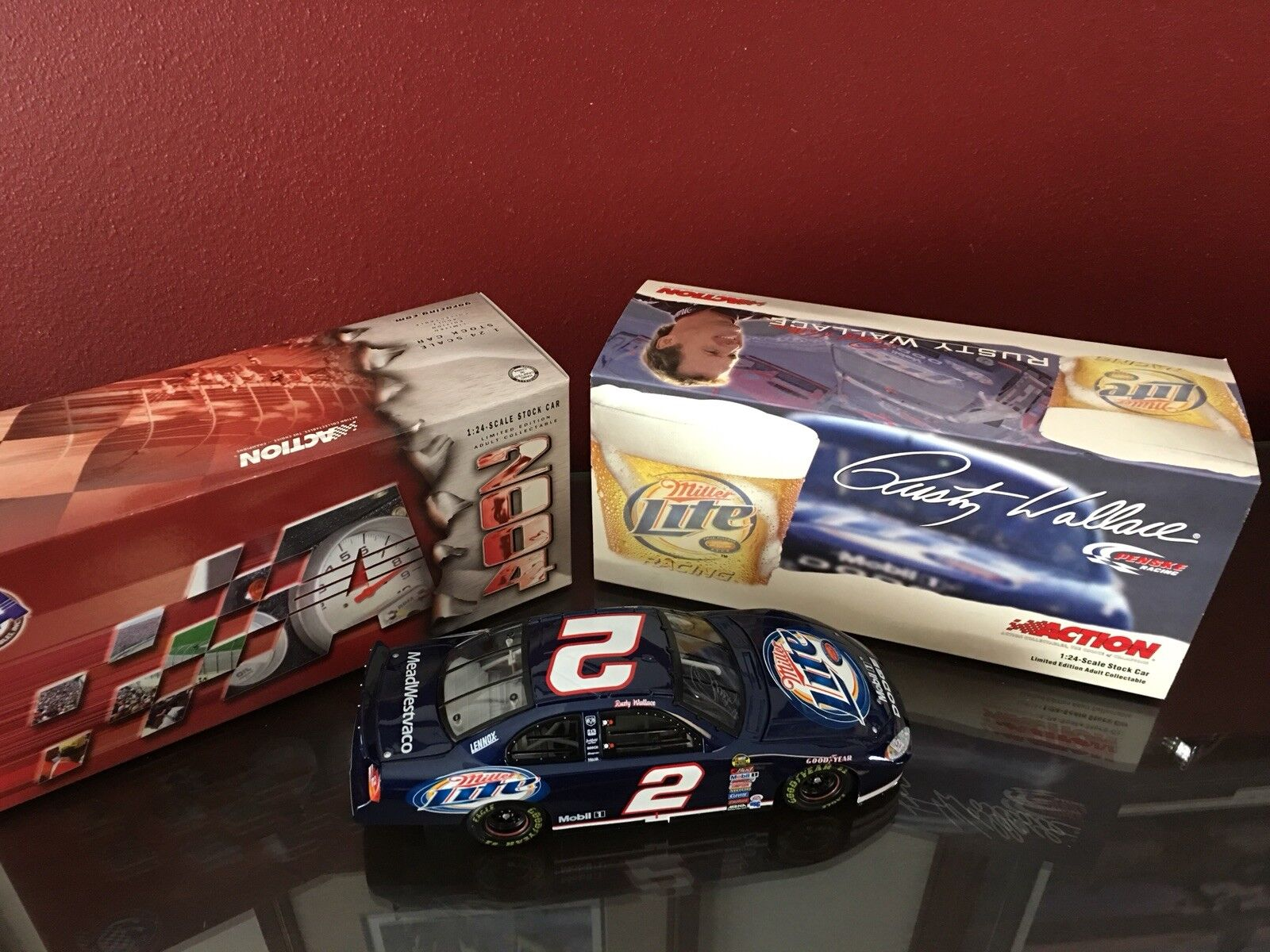 Acción Collectibles, Rusty Wallace, Miller Lite Penske Racing 2004 Dodge