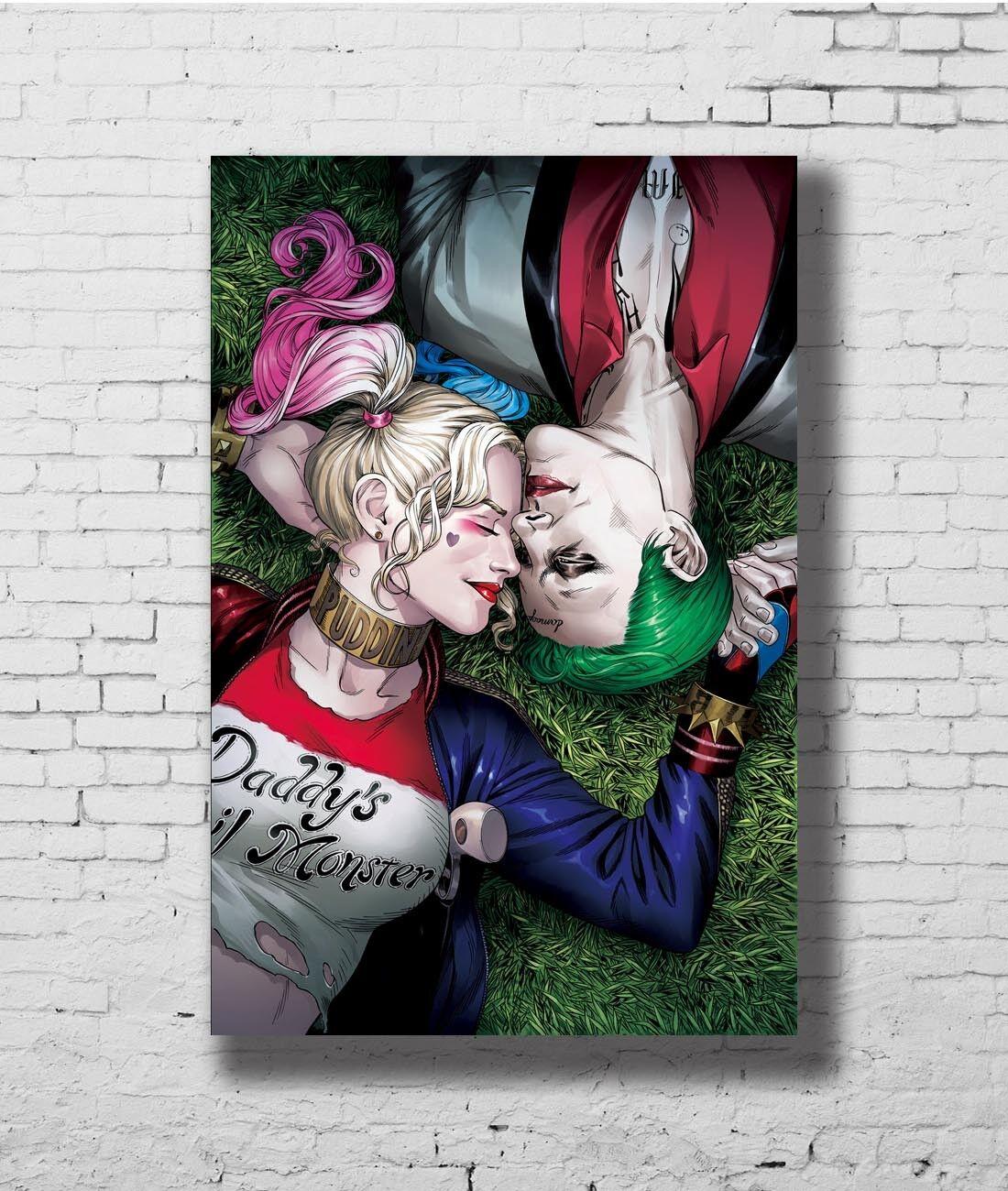 W384 24x36Inch Art Harley Quinn Batman DC Superhero Comic Custom Silk Poster
