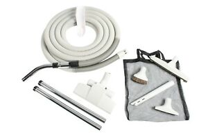 Cen-Tec-Systems-93378-Premium-Gray-Central-Vacuum-Attachment-Kit-with-35-ft-Hose