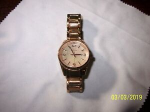 Fossil-Justine-Three-Hand-Rose-Gold-Tone-SS-Watch-Bq1077-LOW-PRICE