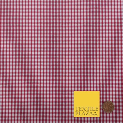 RD152 Tablecloth Picnic Jar Red Small Gingham POLYCOTTON Fabric