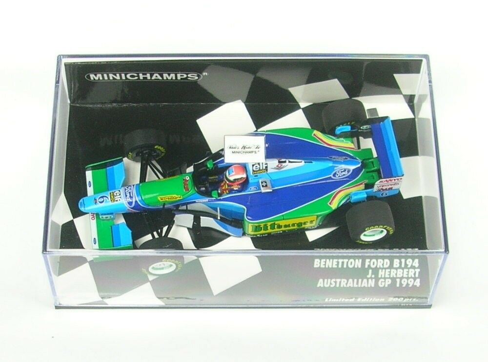 Benetton Ford B194 No.6 Australien Gp Formule 1 1994 (Johnny Herbert)