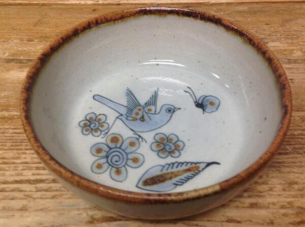 1 Ciotola Per Cereali Coccinella Sig Blu Bird Farfalla Ceramica Messico Tonala Delizioso Nel Gusto