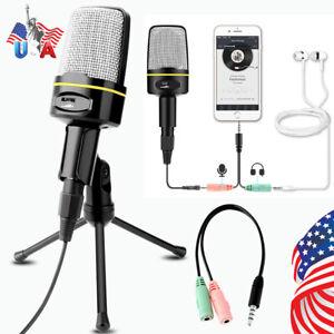 Professional-Audio-Condenser-Microphone-Mic-Studio-Sound-Recording-Tripod-Stand