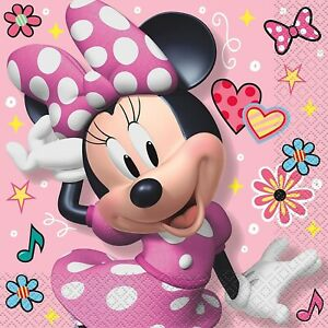 Disney-Minnie-Mouse-Iconic-Lunch-Napkins-16-Per-Package-Birthday-Party