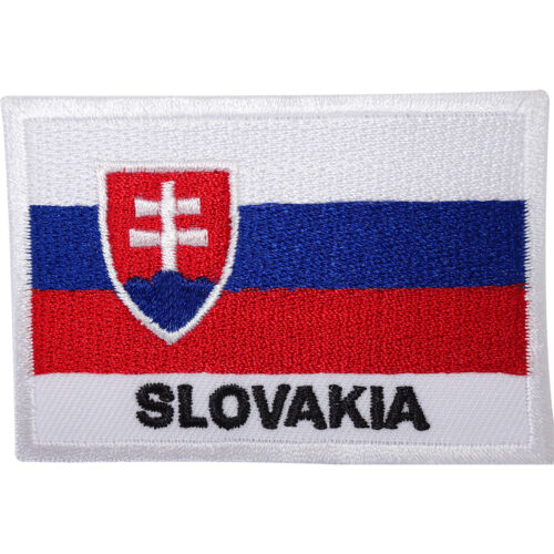 Slovakia Flag Embroidered Sew On Patch Slovakian Shirt Clothes Embroidery Badge