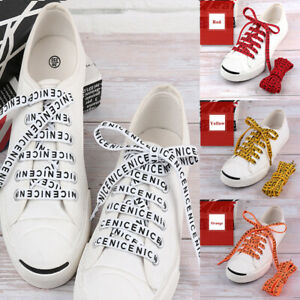 Flat-Shoelaces-Letter-Prints-Shoe-Laces-for-Sneaker-Sport-Shoes-Cool-47-Inch-New