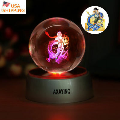 Dragon Ball Z Son Goku Night Light 3D LED Touch Switch Table Desk Lamp Toy Gift