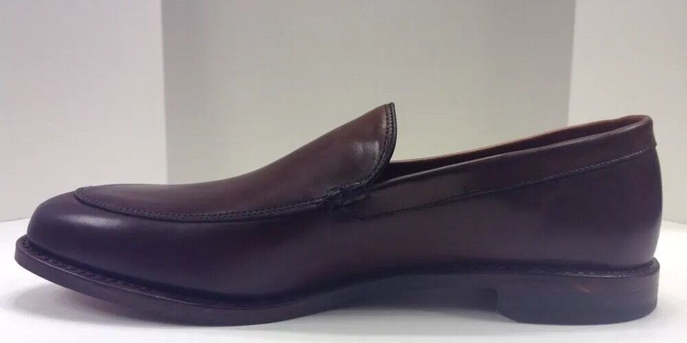Allen Edmonds Steen On Dark Chili Burnished Slip On Steen Uomo 10 D  385 NIB US Made 5744 e1cffb