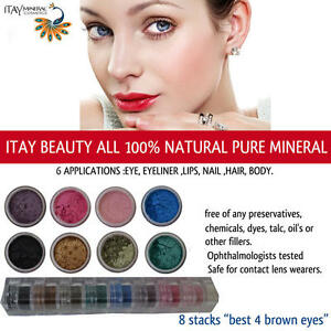 034-BEST-4-BROWN-EYES-034-By-ITAY-Beauty-Mineral-Makeup-8Stacks-Eye-Shadow-Shimmers