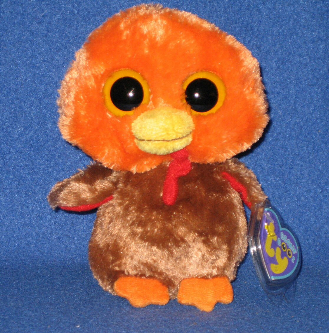 TY BEANIE BOOS BOO'S - GOBBLER the TURKEY - MINT with MINT TAGS