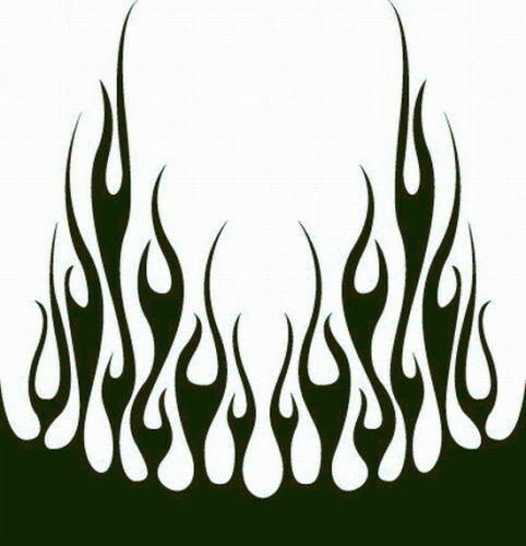#66 FLAME HOOD DECAL VINYL GRAPHIC CAR TRUCK AUTO SUV VAN  SEMI CROSS OVER BLAZE