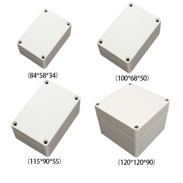 Waterproof Plastic Electrical Junction Wiring Box Mutisize  Connection Case