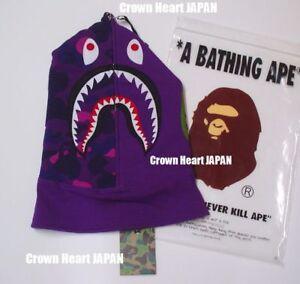 A Bathing Ape Bape Purple Shark Face Mask Japan Fast Free Shipping