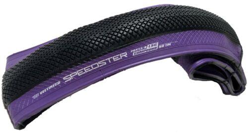 Vee Tire BMX Speedster 20x1 3//8 Folding Bead Purple Wall Bike Tire 37-451 BMX