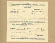 1931 Iowa Sons Union Veterans Civil War,Wildman,Smith,Wulff,Marshalltown,Iowa Ia